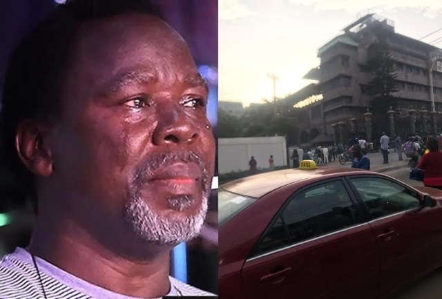 Hundreds of members gather outside Church in disbelief over Prophet TB Joshua's death