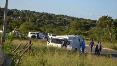 2 armed robbers die after cash van runs them over