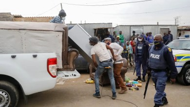 Police and army seize looted goods