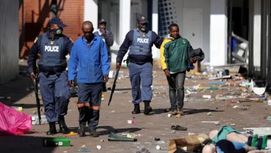 Violence spreads around the country after Zuma jailing, in Katlehong