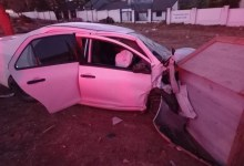Driver seriously injured after crashing into dog house