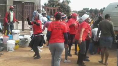 EFF members confront truck driver accused of selling water in Hammanskraal