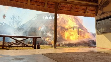 Game Lodge on Fire