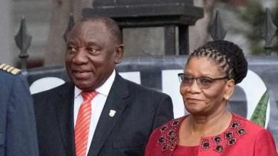 Thandi Modise and Ramaphosa
