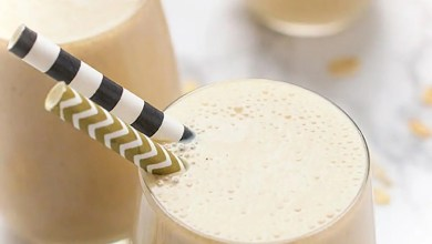 Banana Peanut butter and Oat smoothie