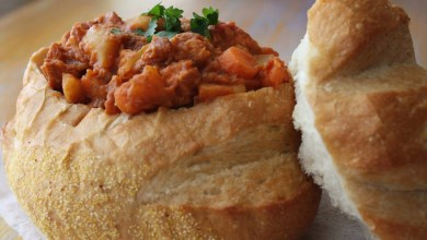 Bunny Chow - chicken curry rolls