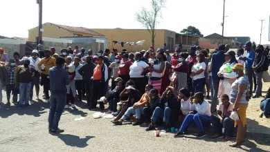 People gathered outside the Mdantsane Magistrates Court on Thursday in support of four anti-crime forum members facing several charges