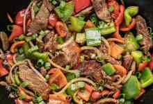 Pepper steak with noodles1