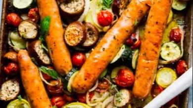 Ratatouille Sheet Pan Dinner With Sausage
