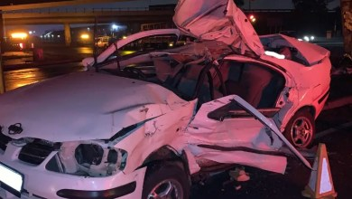 Two injured in truck vs car collision
