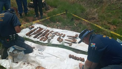 Grenades and AK-47s found buried in Krugersdorp veld