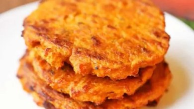 Sweet potato patties recipe