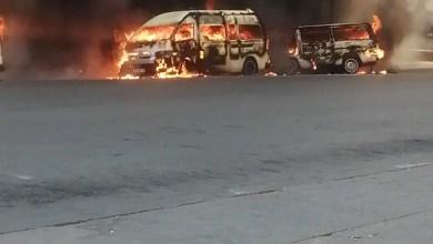 Taxis set alight in Joburg CBD