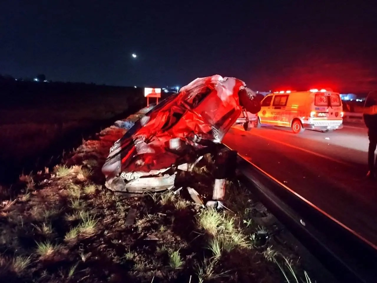 Two seriously injured in N14 high-speed rollover