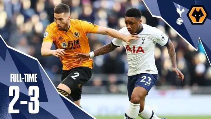 Wolves beat Tottenham 3 – 2 in dramatic come-back