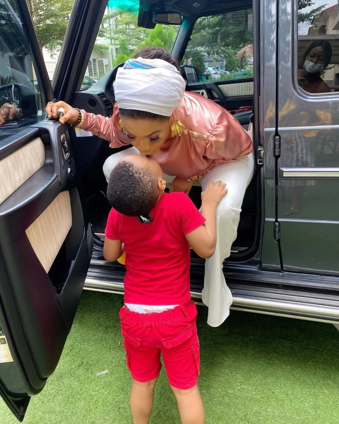 Tonto Dikeh spoils herself with a new toy: Pics