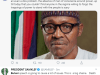 Buhari tweets reactions