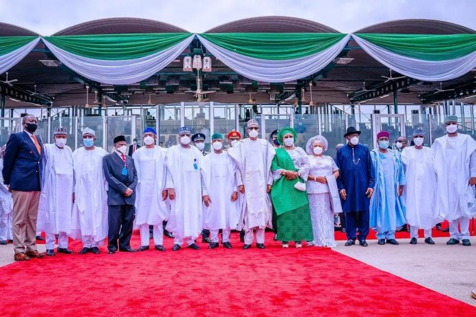 Former President Jonathan and Mama Peace join Buhari and Aisha to celebrate Independence Day