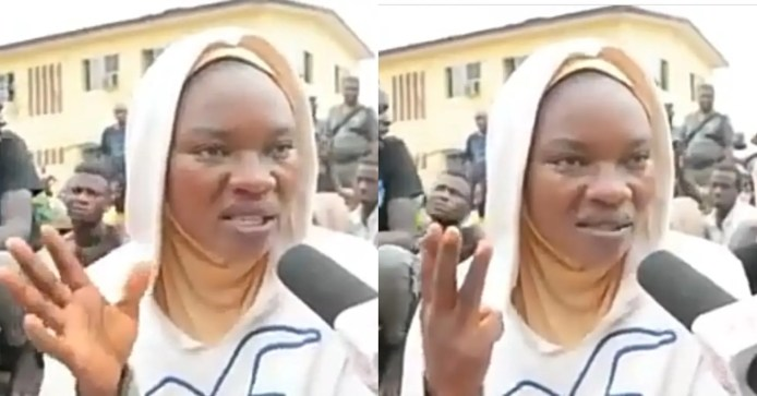 Lady arrested for using her left hand