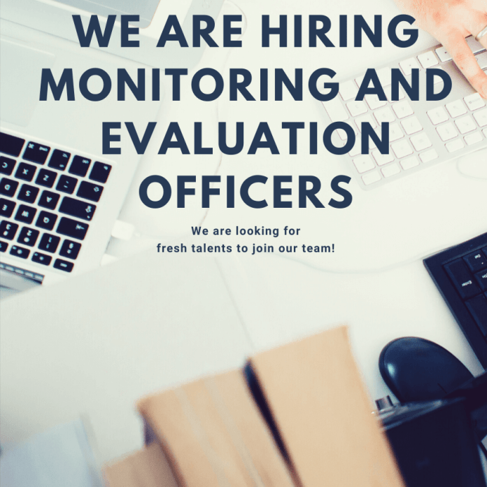Monitoring and Evaluation Officer Needed – Apply Here