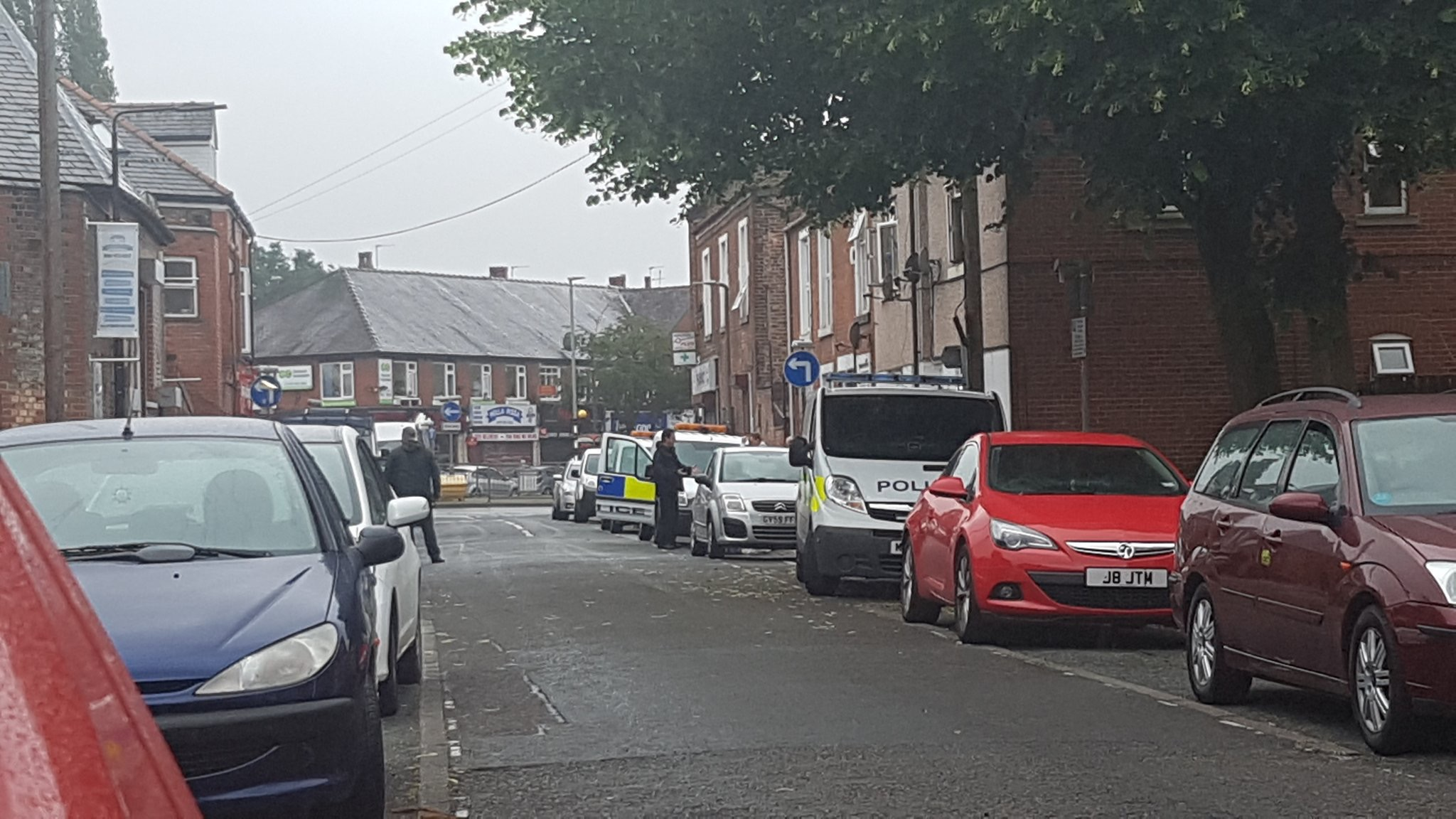 Police Tape Off A House On Hampson Street In Sale Moor