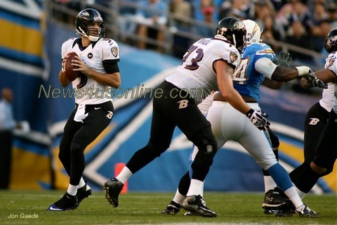 Thanks to his performance in the Super Bowl, Baltimore Ravens quarterback Joe Flacco is now considered to be an elite signal-caller.  Photo Credit: Jon Gaede/News4usonline.com