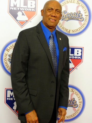 Hall of Fame pitcher Ferguson Jenkins at the Professional Baseball Scouts Foundation gala. Photo Credit: Dennis J. Freeman