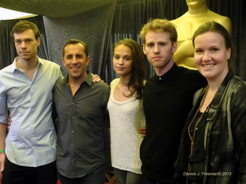 """Members from the film """"A Royal Affair,"""" attends a media session during Oscar week. Photo Credit: Dennis Freeman"""
