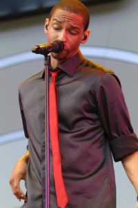 A member of Naturally 7 does his thing at the Playboy Jazz Festival in 2011. Photo by Mario / News4usonline.com