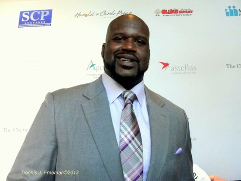 Former NBA great Shaquille O'Neal was one of the honorees at the 13th Annual harold & Carole Pump Foundation gala at the Beverly Hills Hilton Hotel. Photo Credit: Dennis J. Freeman