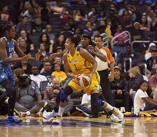 Candace Parker doing her thing. Photo Credit: Jevone Moore/News4usonline.com