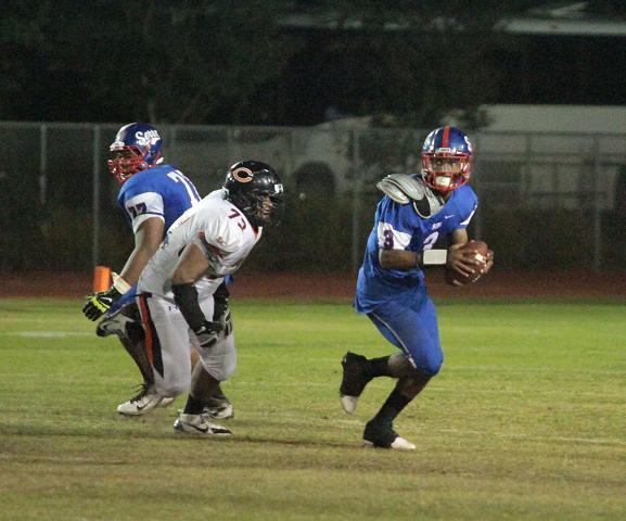 Serra quarterback Jalen Greene is on the move. Photo Credit: Jevone Moore/Full Image 360