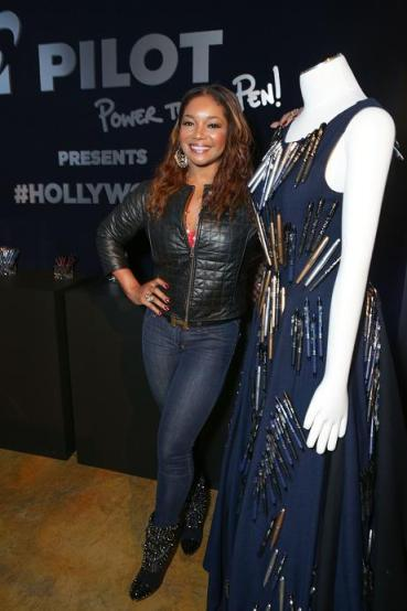Actress  Tamala Jones (ABC's Castle) attends the GBK & Pilot Pen Pre-Golden Globe Gift Lounge on January 11, 2014 in Beverly Hills, California.  (Photo by Tiffany Rose/WireImage)