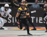 LA Kiss Return Specialist AJ Cruz on one of 10 kickoffs for 270 yards. Photo Credit: Jevone Moore / News4usonline.com