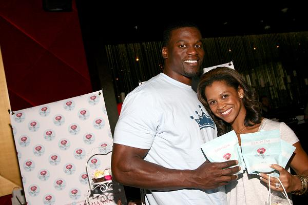 HOLLYWOOD, CA - JULY 15: Football player Benjamin Watson (L) and guest attend the GBK Luxury Sports Lounge, prior to the ESPY Awards held at W Hollywood on July 15, 2014 in Hollywood, California. (Photo by Tommaso Boddi/Getty Images for GBK Productions)