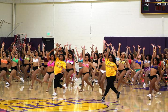 Hundreds turned out for the annual Lakers Girl audition on Saturday, July 12. Photo Credit: Dennis J. Freeman/News4usonline.com