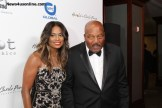NFL Hall of Fame running back Jim Brown with wife Monique. Brown was one of the honorees at the 14th Annual Harold and Carole Pump Foundation gala. Photo by Dennis J. Freeman/News4usonline.com