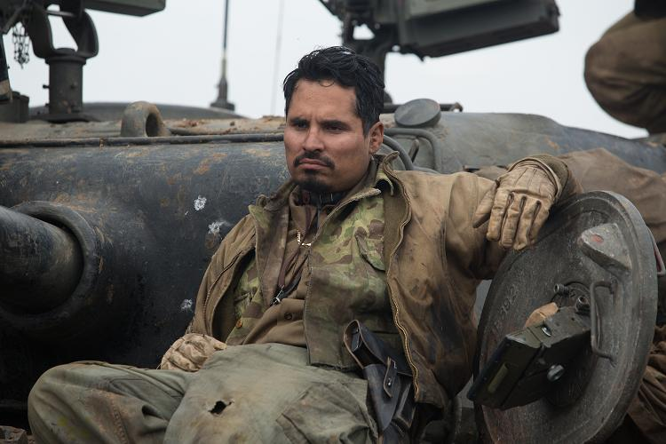 """Trini """"Gordo"""" Garcia (Michael Pena) in Columbia Pictures' FURY. PHOTO BY:Giles Keyte COPYRIGHT:© 2014 CTMG, Inc. All Rights Reserved."""