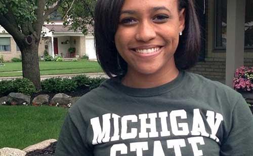 Aubrey Perry, high school senior at Farmington High School in Farmington, Michigan