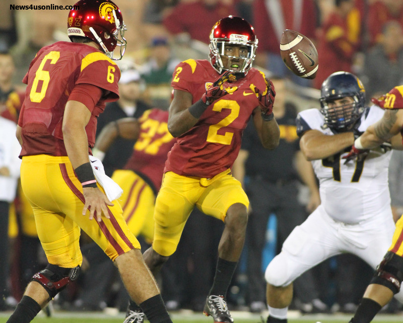 USC prevailed over Cal in a Thursday night game played at the Los Angeles Memorial Coliseum. Photo Credit: Jevone Moore/News4usonline.com