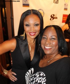 Song diva Chante Moore (left) and friend at the NAACP Theatre Awards in Beverly Hills, California. Photo Credit: Cory Cofield/News4usonline.com