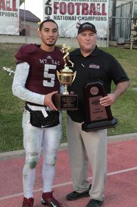 Game MVP Justin Alo (Carson High School) and Head Coach Bob Jastrab. Photo by Jevone Moore / Full Image 360 / News4usonline.com