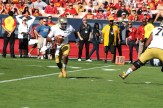 Notre Dame quarterback Everett Golson on the move against USC. Photo Credit: Dennis J. Freeman/News4usonline.com