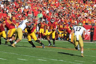 Cody Kessler had an easy afternoon against the Fighting Irish as USC hammered its rival, 49-14. Photo Credit: Dennis J. Freeman/News4usonline.com