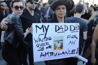 """Longtime """"Young and the Restless star Victoria Rowell was out in the streets with the rest of the protesters at the Blackout Hollywood march. Photo Credit: dennis J. Freeman/News4usonline.com"""""""