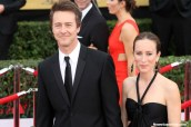 Actor Ed Norton (Birdman) and his better half at the 21st Screen Actors Guild Awards that took place at the Los Angeles Shrine Exposition Center Sunday, Jan. 25, 2015. Photo by Dennis J. Freeman/News4usonline.com