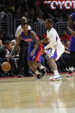 Though he had a quiet night offensively, Chris Paul still helped propelled the Clippers to the win against the Pistons. Photo by Jevone Moore/News4usonline.com