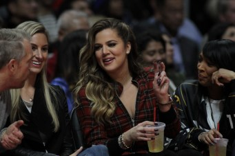 Khloe Kardashian sitting courtside. Photo by Jevone Moore/News4usonline.com