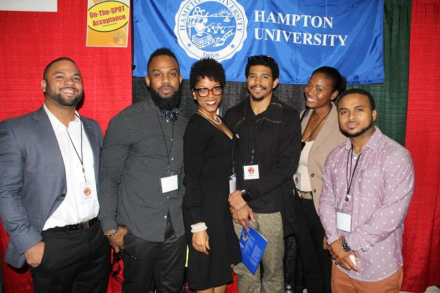 Hampton University alum working the booth at the Los Angeles Convention Center. Photo by Dennis J. Freeman/News4usonline.com
