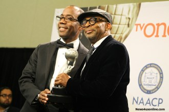 Director Spike Lee backstage at the 46th NAACP Image Awards. Photo by Dennis J. Freeman/News4usonline.com